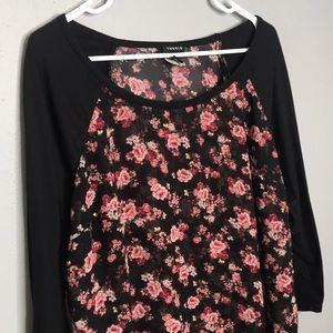Torrid | black floral shirt size 0X